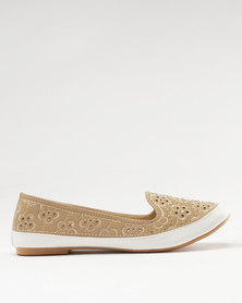 Bubblegummers Girls Casual Slip On Beige