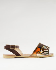 Marie Claire Open Flats Brown
