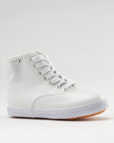 Tomy Takkies Original High Top PU White