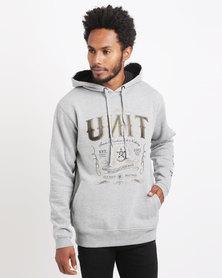 UNIT Mens Fleece Outlaw Hoodie Grey