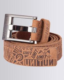 UNIT Mens Belt Enforcer Brown