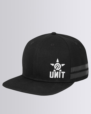 87663de7ad36a UNIT Men Headwear Offset Snapback Black