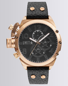 UNIT Mens Watch Distinct Leather Gold
