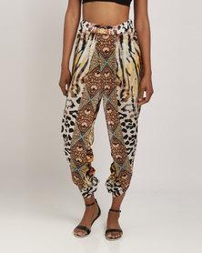 Talooshka Embellished Print Pants Sheba Gold