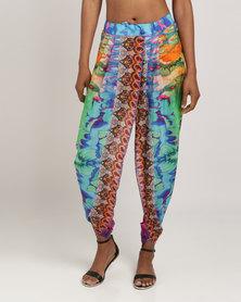 Talooshka Embellished Print Pants Delilah Multi