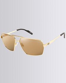 UNIT Air Frame Sunnies Gold-Tone