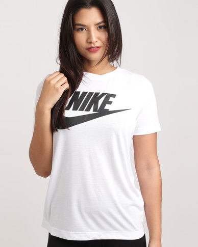 Nike Women s Nike Sportswear Essential Tee White  a3f317e44