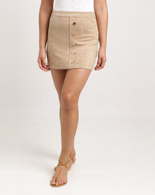 Soviet Nuna A-Line Skirt Camel