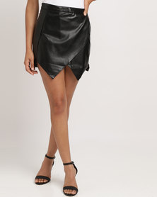 Soviet Roksana Mock Wrap Skirt Black