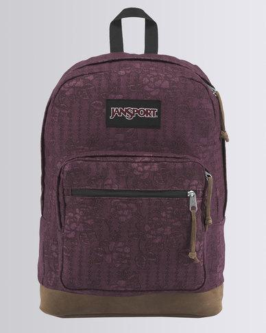 JanSport Right Pack Expressions Backpack Debossed Floral