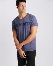 St Goliath Splitter T-Shirt Navy Marle