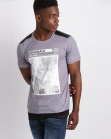 K7Star Vista Printed T-Shirt Charcoal