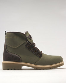 Soviet Yarrow Lace Up Boot Olive Choc