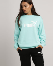 Puma Essentials Logo Crew Sweat Blue
