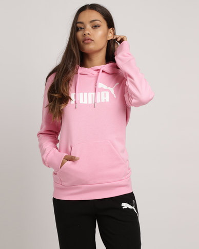 b8a80470 Puma Essentials Logo Hoodie Pink   Zando