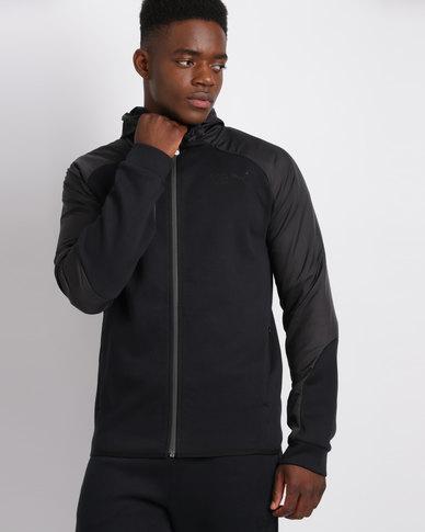 Puma Legend Full Zip Hoodie Cotton Black