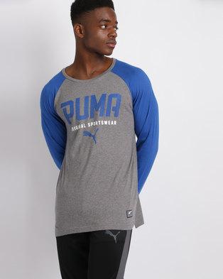 7104923d67d Puma Style Tec Baseball Tee Blue/Grey. Quick View. Puma Sportstyle Core
