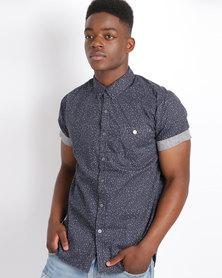 Deacon Evasion Short Sleeve Shirt Navy