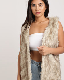 All About Eve Faux Fur Gilet Cream