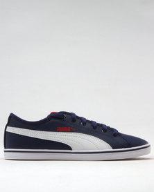 Puma Elsu v2 Suede Leather Junior Sneakers Blue