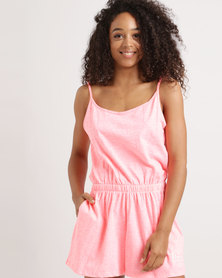 Lizzy Effle Ladies Onesie Neon Pink