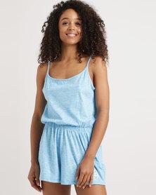Lizzy Effle Ladies Onesie Blue