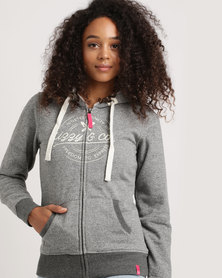 Lizzy Fara Ladies Zip Thru Hoody Grey