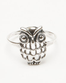 Joy Collectables Owl Fashion Ring Sterling SIlver