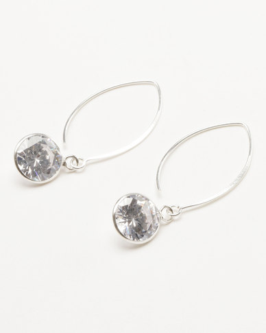 edee32c34 Joy Collectables Diamante Earrings Sterling Silver | Zando