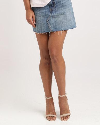Levi's ® Deconstructed Skirt War Torn Blues