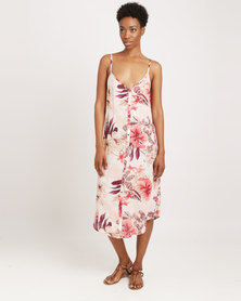 Billabong Lost Lily Midi Dress Pink