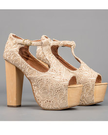 Jeffrey Campbell Foxy Lace Cream