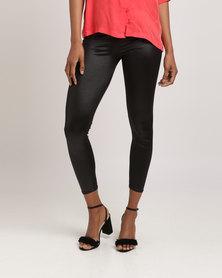 Glamzza Faux Leather Leggings Black