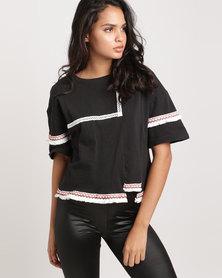 Glamzza Hand-Made Ethnic Shirt Black