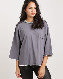 Glamzza Patch-Pocket Pullover Grey