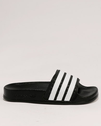 b0e7ff7f2250ca adidas Adilette C Black White