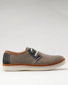 Bata Mens Casual Dress Shoes Grey/Black