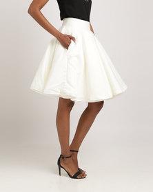Rubicon Brocade Skirt White