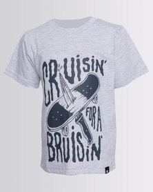 DC Boys Cruiser Tee Grey