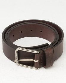DC Leather Belt Brown
