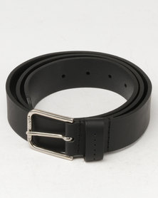 DC Leather Belt Black