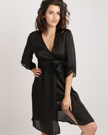 Lila Rose Short Lacey Gown Black