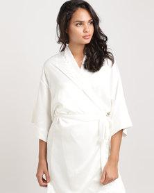 Lila Rose Short Kimono Robe Milk