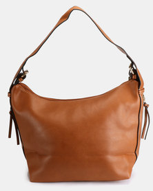 Blackcherry Bag Hobo Bag With Side Detail Tan