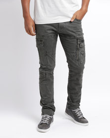 Cutty C Clip Cargo Trousers Charcoal