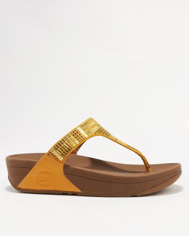 f0e75c0e6003 FitFlop Aztek Chada Wedge Sandals Sunflower Yellow