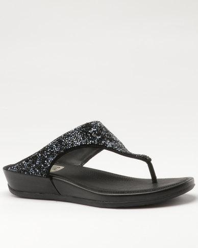 2cc15f8b6 FitFlop Banda Roxy Flat Sandals All Black