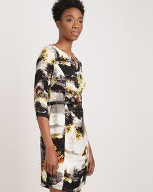 G Couture Nature Print Dress Multi