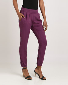 G Couture Pull On Trousers Purple