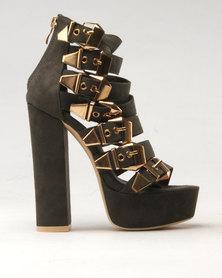 Noir High Heel Platform Olive Green